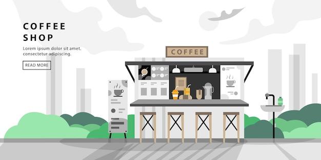 Кофейня с простым дизайном