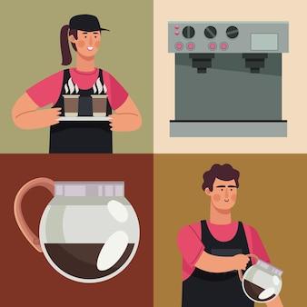 コーヒーショップの労働者