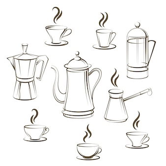 Coffee sketch collection