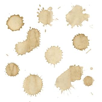 커피 얼룩 세트