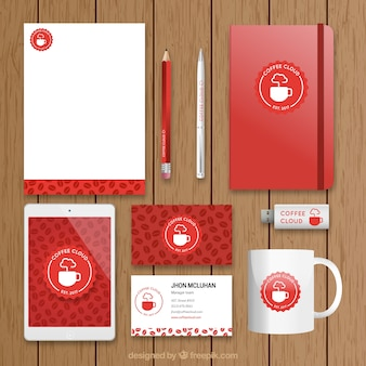 Coffee stationery set