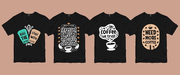 Coffee t shirt  pack