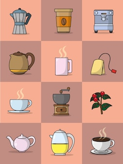 Coffee and tea collection