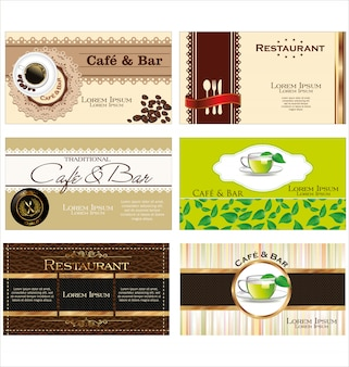 Coffee and tea  label set