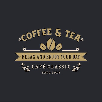 Coffee & tea logo vintage