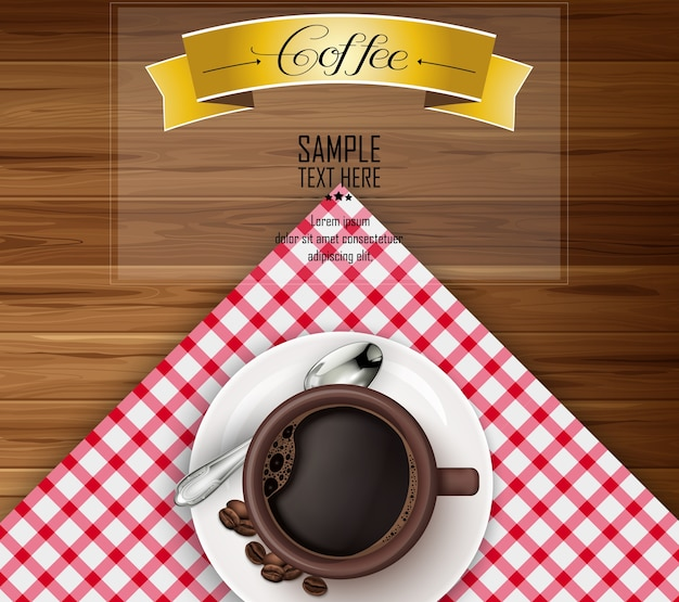 Coffee template design with cup of coffee