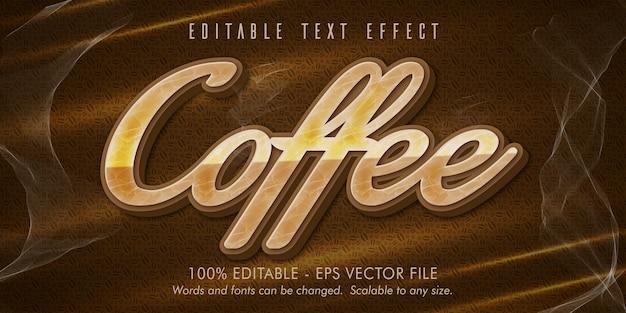 Кофе текст, редактируемый текстовый эффект в стиле кофе