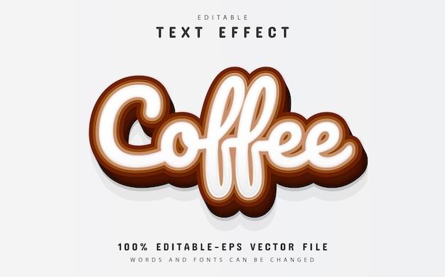 커피 텍스트, 편집 가능한 3d 텍스트 효과