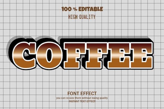 Кофейный текст, эффект редактируемого шрифта