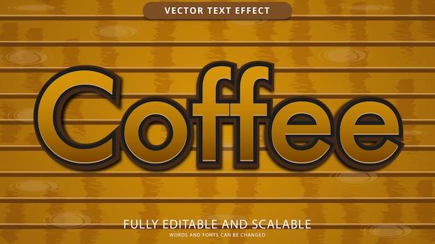 Текстовый эффект кофе можно редактировать eps файл