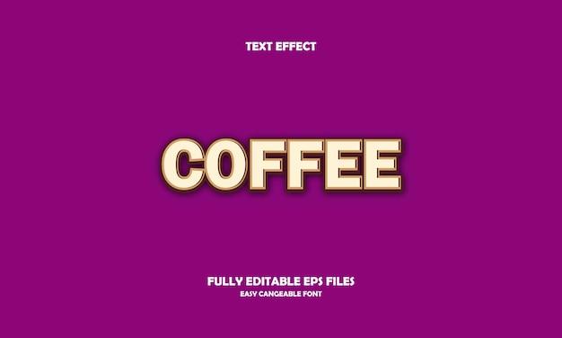 Кофе текстовый эффект дизайн шаблона