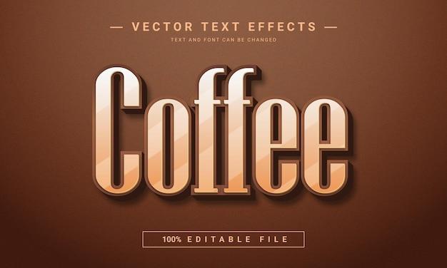 Дизайн текстового эффекта кофе