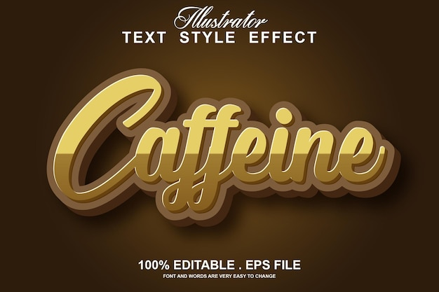 Coffee text effect, modern style in two colors