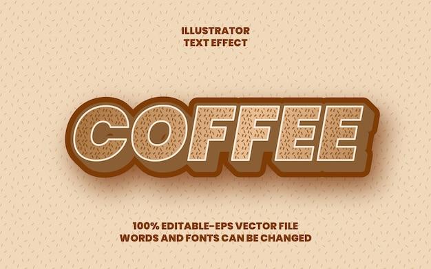 커피 텍스트 효과 프리미엄 벡터