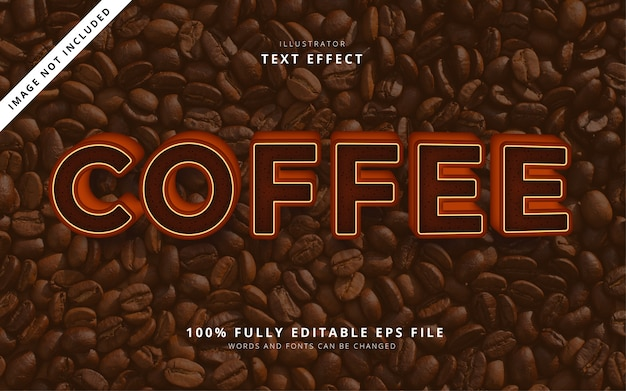 Coffee text effect