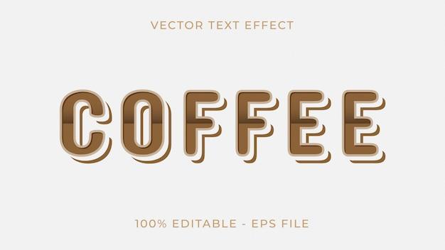 Текстовый эффект кофе