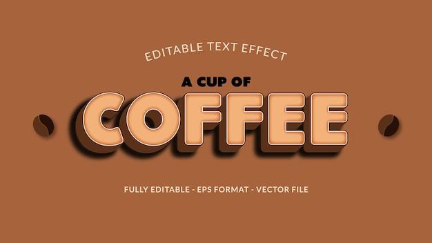 Эффект текста кофе