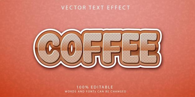 커피 텍스트 효과 스타일 템플릿