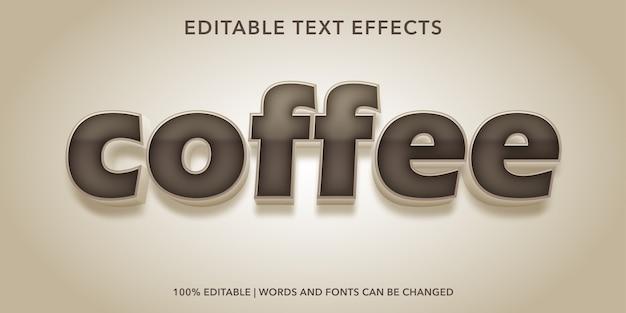 커피 텍스트 스타일 편집 가능한 텍스트 효과