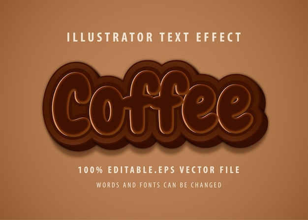 Coffee text style effect