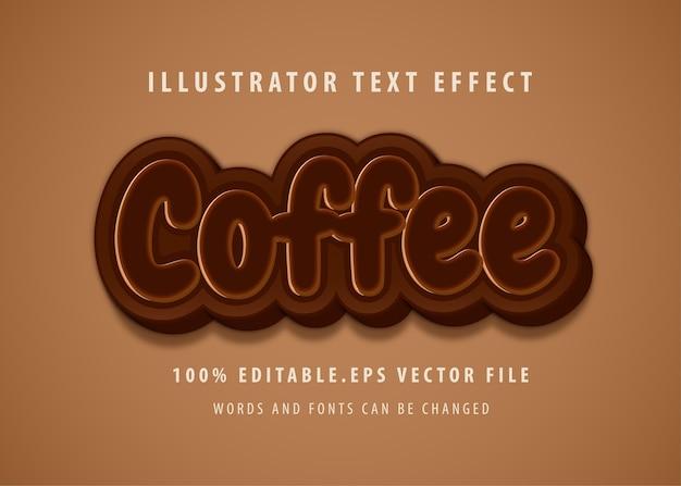 Кофе текст стиль эффект