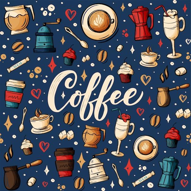 Coffee theme illustration