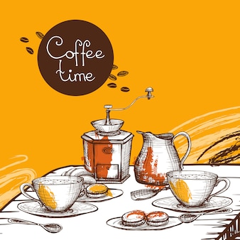 Coffee time background poster
