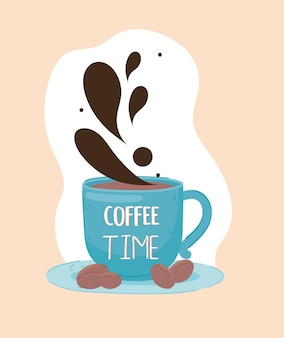Coffee time and beans