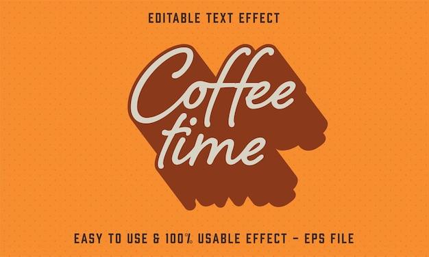 커피 타임 편집 가능한 텍스트 효과