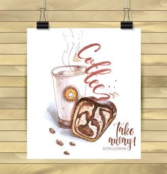 Coffee time hand drawn illustration