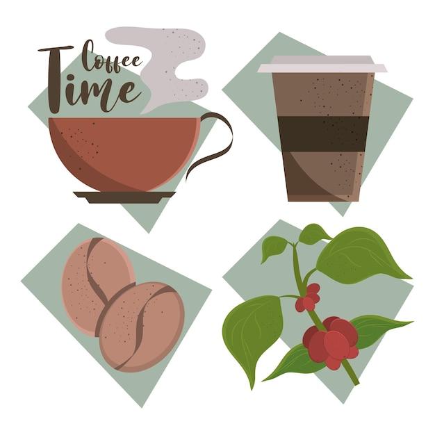 커피 타임 아이콘