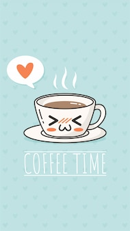 Coffee time kawaii