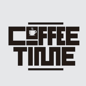Coffee time lettering concept design