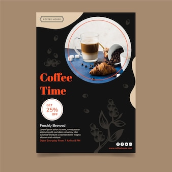 Coffee time poster template