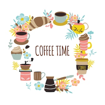 Coffee time round design