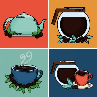 Coffee time set elements