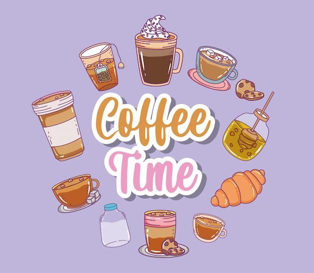 Coffee time sketch flat
