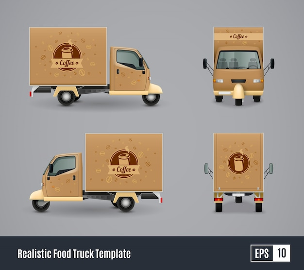 Coffee truck realistic