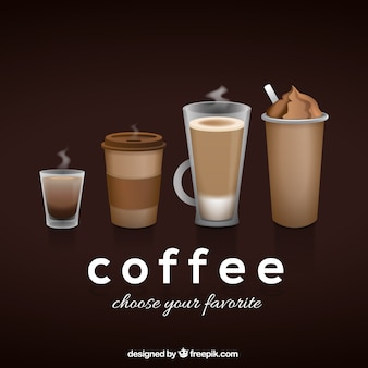 Coffee type background