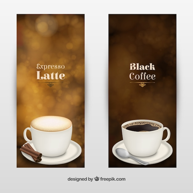 Coffee type brochures