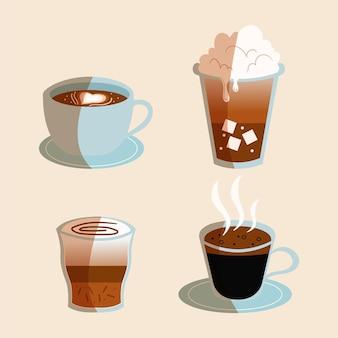 Коллекция типов кофе