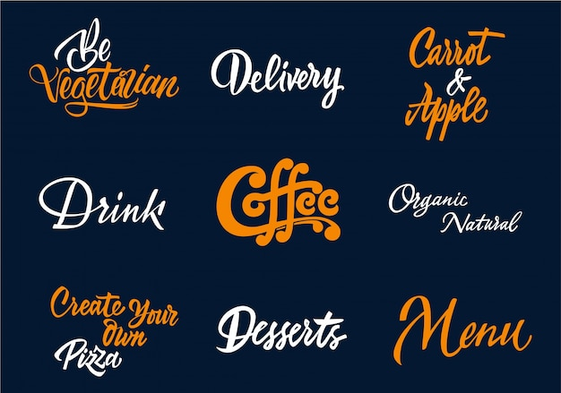 커피 타이포그래피 컬렉션