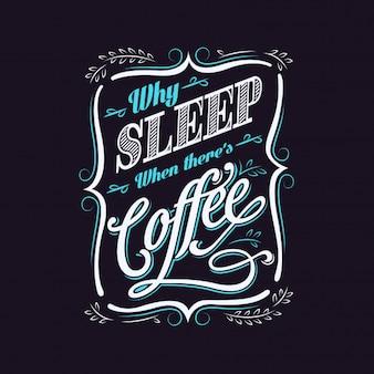 Coffee Typography Design