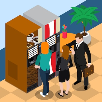 Coffee vending machine illustration