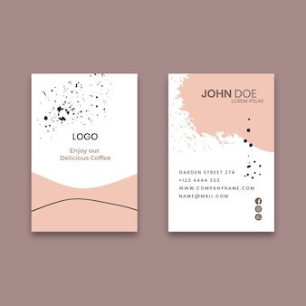 Coffee vertical business card