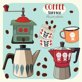 Coffee vintage elements collection