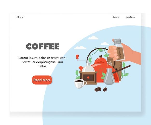Coffee website landing page design template