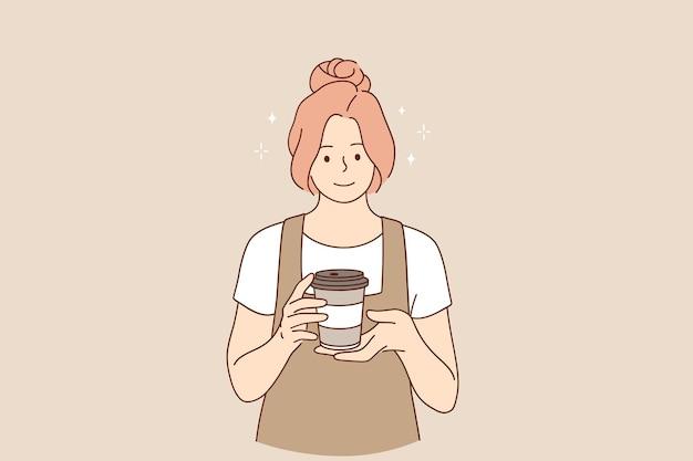 Концепция кофейни и кафетерия Premium векторы