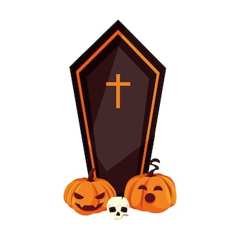 Coffin happy halloween celebration