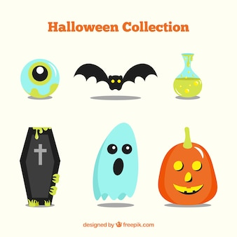 Coffin and other elements for halloween